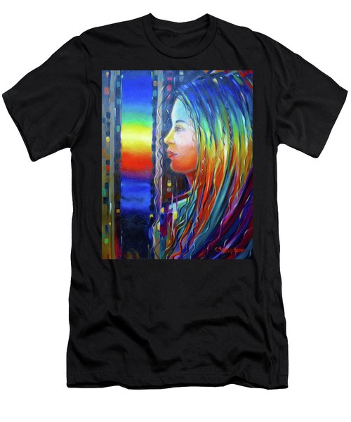 Rainbow Girl 241008 Men's T-Shirt (Athletic Fit)