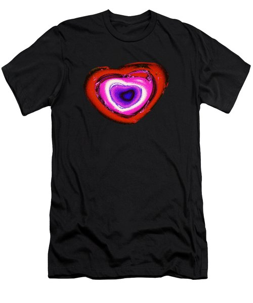 Rainbow Heart Men's T-Shirt (Athletic Fit)