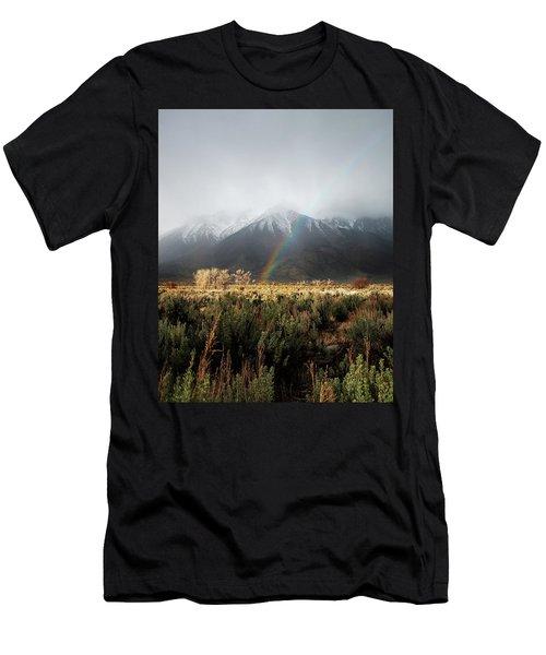 Rainbow In Eastern Sierra Nevadas Men's T-Shirt (Athletic Fit)