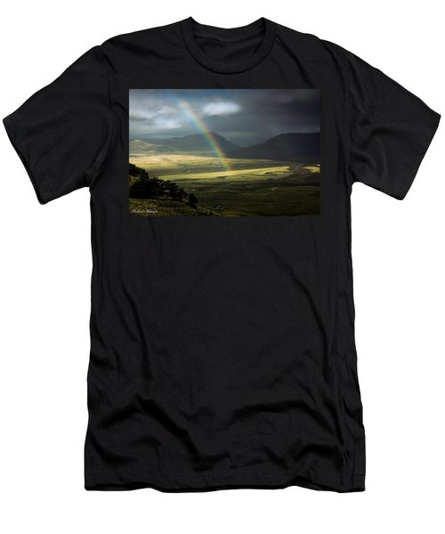 Rainbow In The Valley Men's T-Shirt (Slim Fit) by Andrew Matwijec