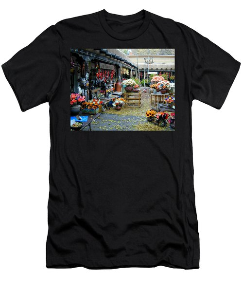Men's T-Shirt (Athletic Fit) featuring the photograph Rainbow Man Courtyart by Joseph R Luciano