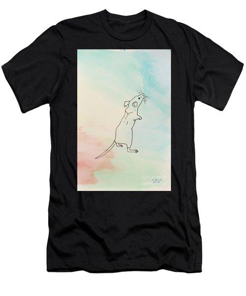 Rainbow Mouse Men's T-Shirt (Athletic Fit)