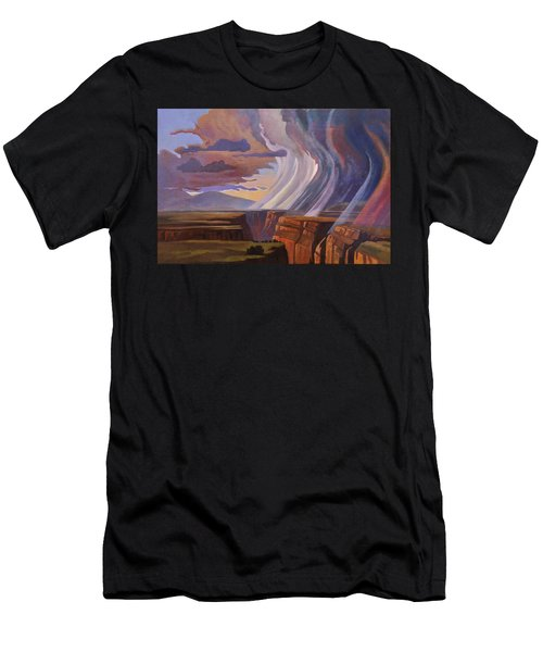 Rainbow Of Rain Men's T-Shirt (Athletic Fit)