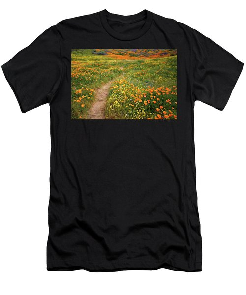 Rainbow Of Wildflowers Bloom Near Diamond Lake In California Men's T-Shirt (Athletic Fit)