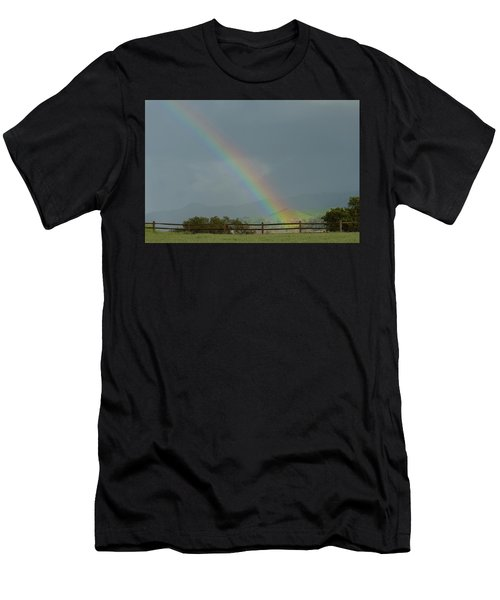 Rainbow On Valhalla Dr. Men's T-Shirt (Athletic Fit)