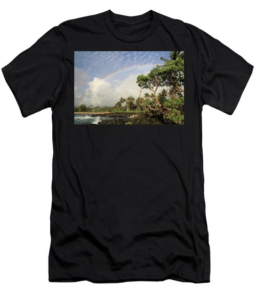 Rainbow Over The Beach Men's T-Shirt (Athletic Fit)