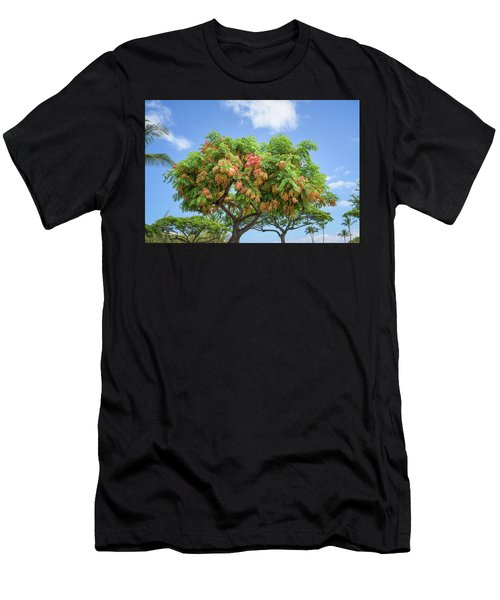 Men's T-Shirt (Athletic Fit) featuring the photograph Rainbow Shower Tree 1 by Jim Thompson