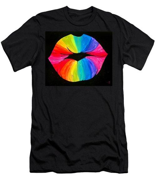Rainbow Smooch Men's T-Shirt (Athletic Fit)