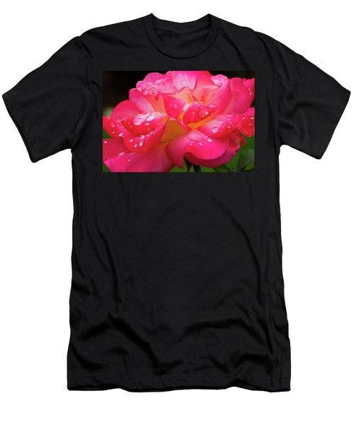 Rainbow Sorbet Raindrops Men's T-Shirt (Athletic Fit)