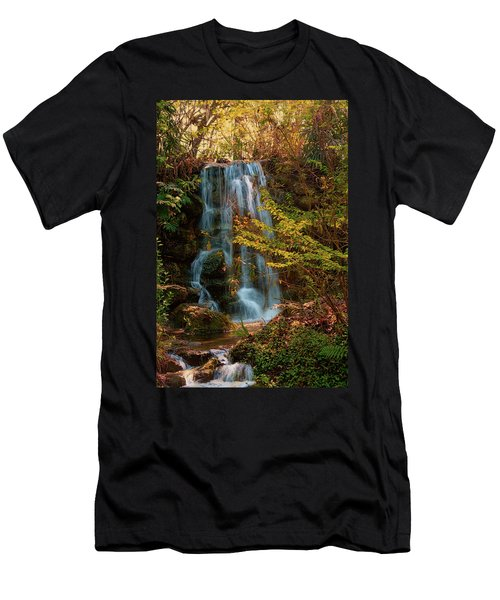 Men's T-Shirt (Slim Fit) featuring the photograph Rainbow Springs Waterfall by Louis Ferreira