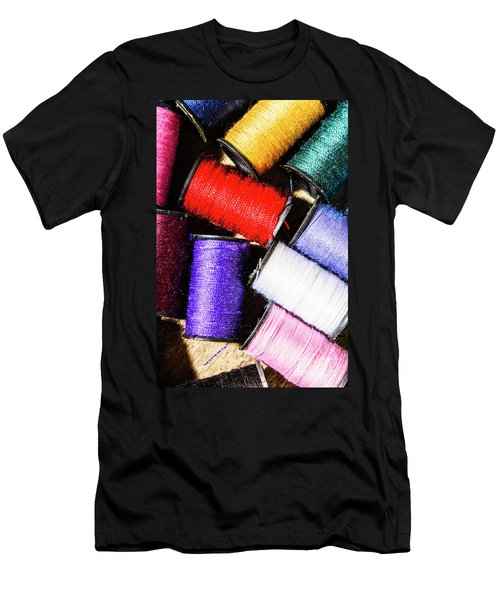 Rainbow Threads Sewing Equipment Men's T-Shirt (Athletic Fit)