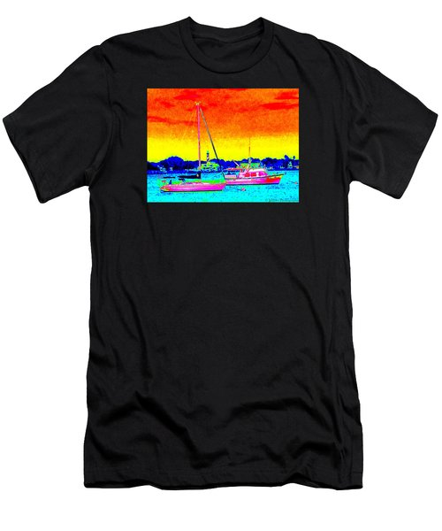 Rainbow Tide Men's T-Shirt (Athletic Fit)