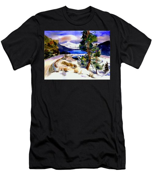 Rainbowbridge Above Donner Lake Men's T-Shirt (Athletic Fit)