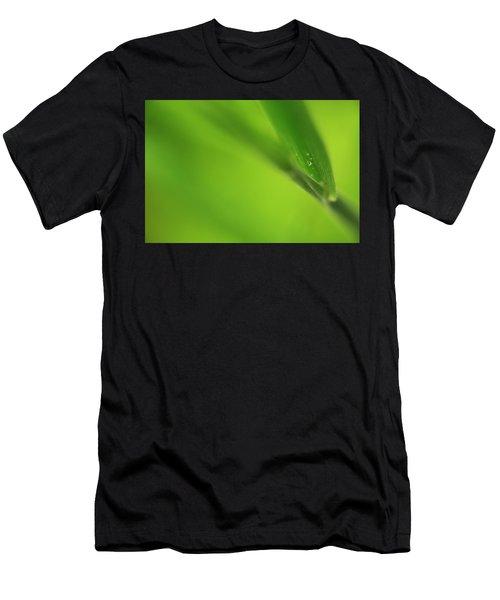 Raindrop On Grass Men's T-Shirt (Athletic Fit)