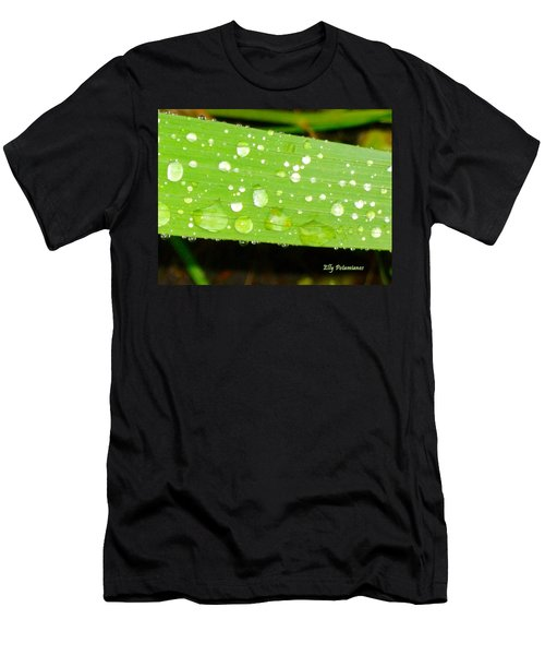 Raindrops On Leaf Men's T-Shirt (Athletic Fit)