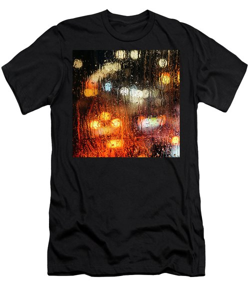 Raindrops On Street Window Men's T-Shirt (Athletic Fit)