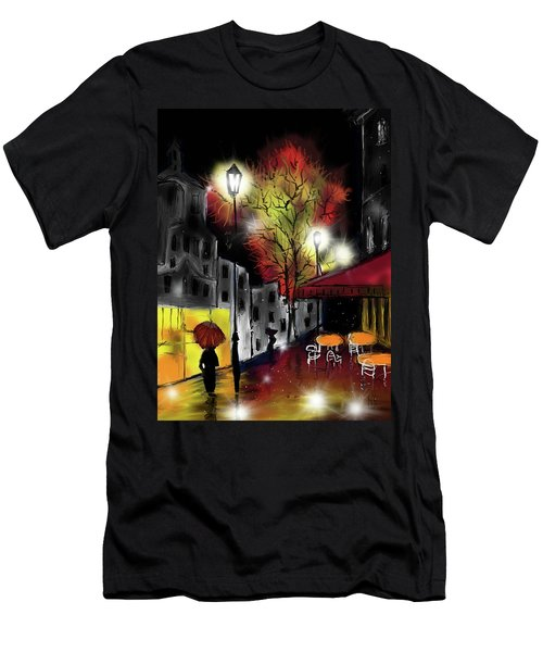 Men's T-Shirt (Athletic Fit) featuring the digital art Raining And Color by Darren Cannell