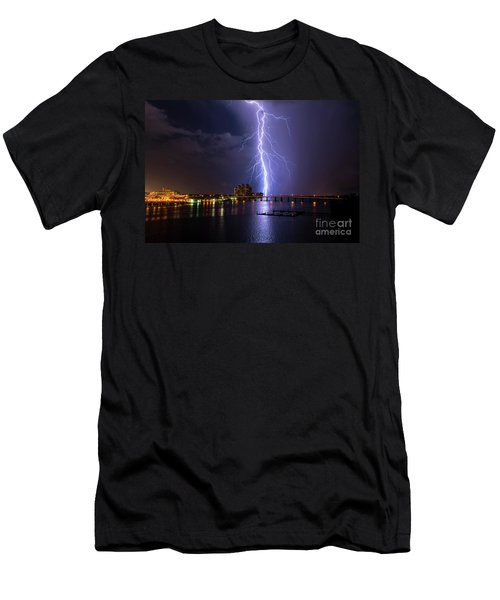 Raining Bolts Men's T-Shirt (Athletic Fit)