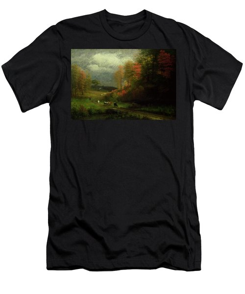 Rainy Day In Autumn Men's T-Shirt (Athletic Fit)