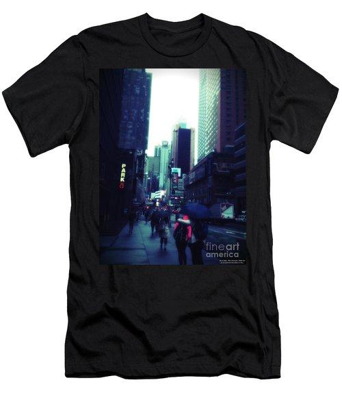 Rainy Day New York City Men's T-Shirt (Athletic Fit)