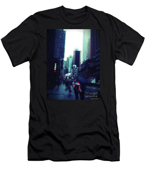 Rainy Day New York City Men's T-Shirt (Athletic Fit)