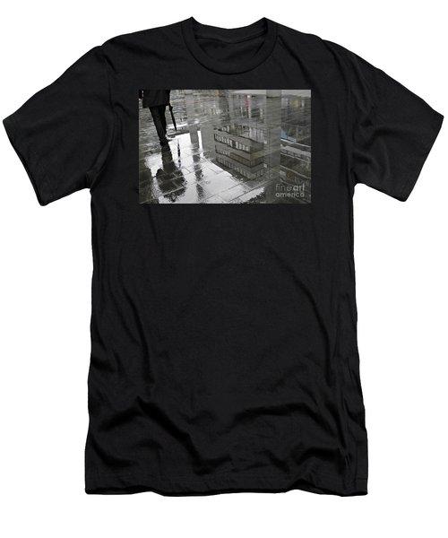 Rainy Morning In Mainz Men's T-Shirt (Slim Fit) by Sarah Loft