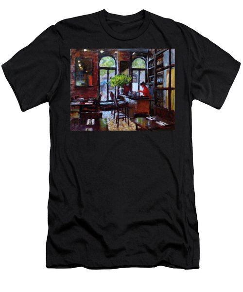 Rainy Morning In The Restaurant Men's T-Shirt (Athletic Fit)