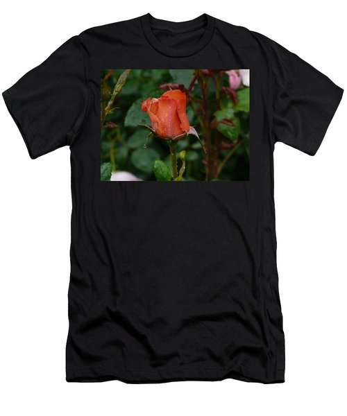 Rainy Rose Bud Men's T-Shirt (Athletic Fit)
