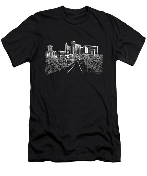 Raleigh Nc White On Dark Background Men's T-Shirt (Athletic Fit)