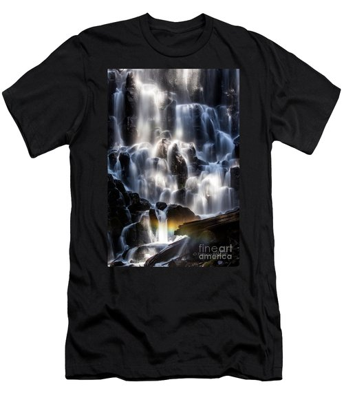 Ramona Falls With Rainbow Men's T-Shirt (Athletic Fit)