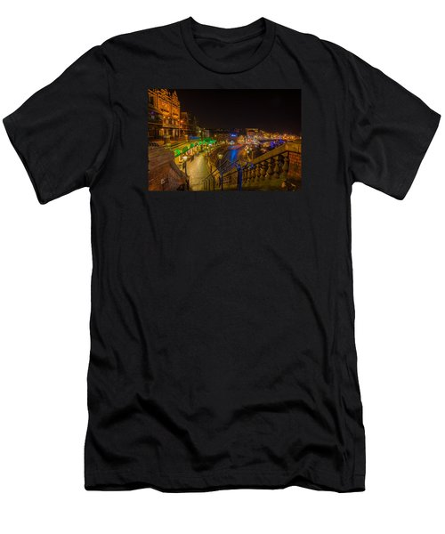 Ramsgate West Cliff Arcade Restaurants At Night  Men's T-Shirt (Athletic Fit)