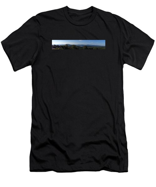 Rangeley Lake Sunset Panoramic Men's T-Shirt (Athletic Fit)