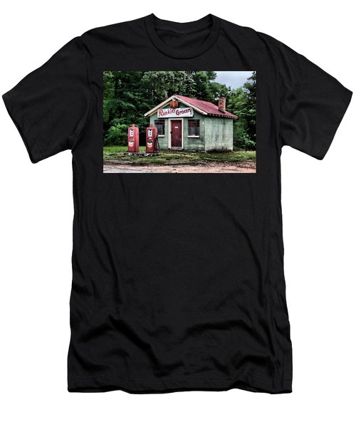 Men's T-Shirt (Slim Fit) featuring the painting Rankins Grocery In Watercolor by Lynne Jenkins