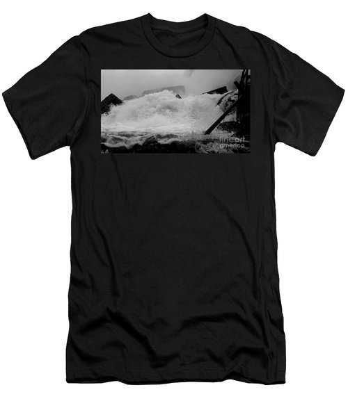 Men's T-Shirt (Slim Fit) featuring the photograph Rapids  by Raymond Earley