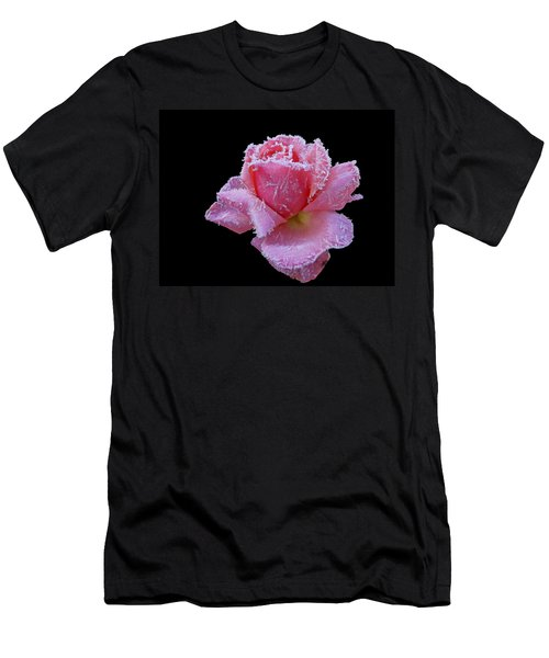 Rare Winter Rose Men's T-Shirt (Athletic Fit)