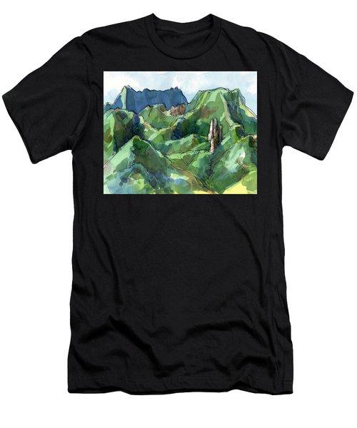 Rarotonga, Raemaru Mountain View Men's T-Shirt (Athletic Fit)