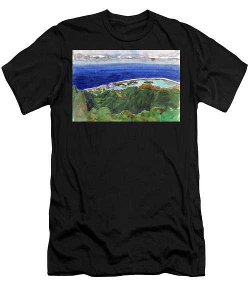 Rarotonga, View From Te Manga Men's T-Shirt (Athletic Fit)