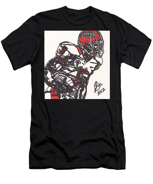 Men's T-Shirt (Slim Fit) featuring the drawing Rashard Mendenhall 1 by Jeremiah Colley
