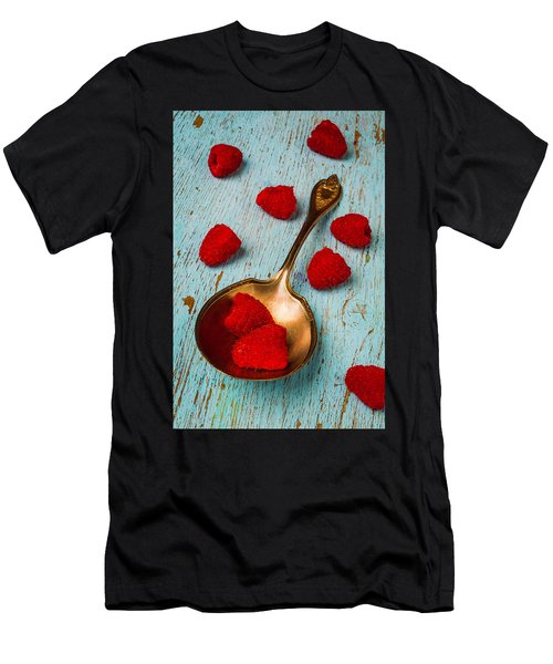 Raspberries With Antique Spoon Men's T-Shirt (Athletic Fit)