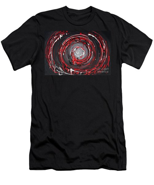 Raspberry Swirls Men's T-Shirt (Athletic Fit)