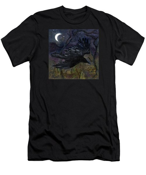 Raven In Stars Men's T-Shirt (Athletic Fit)