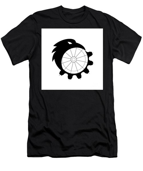 Raven Merging To Cog Icon Men's T-Shirt (Athletic Fit)