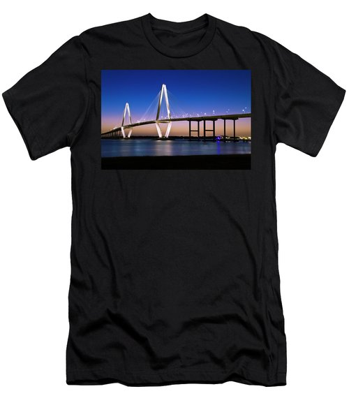Men's T-Shirt (Athletic Fit) featuring the photograph Ravenel Bridge 2 by Bill Barber
