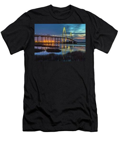 Ravenel Bridge Reflection Men's T-Shirt (Athletic Fit)