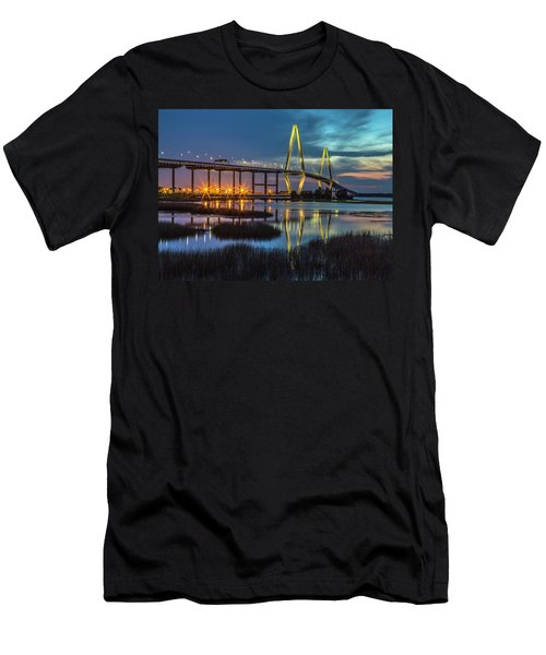 Ravenel Bridge Reflection Men's T-Shirt (Athletic Fit)