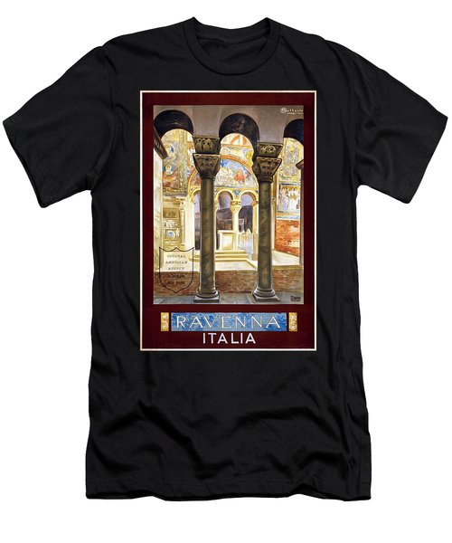 Ravenna, Travel Poster 1925 Men's T-Shirt (Athletic Fit)