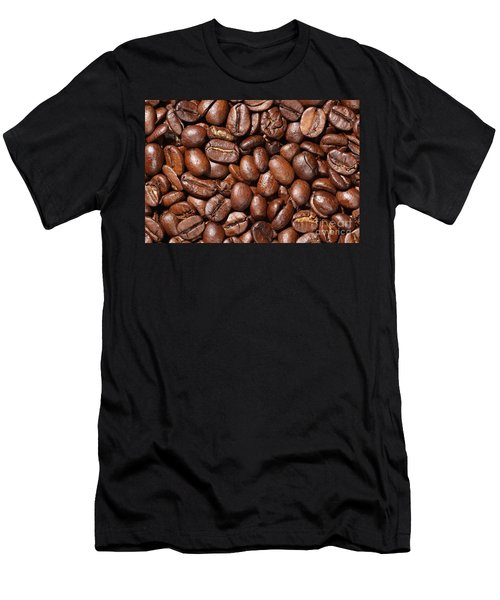 Raw Coffee Beans Background Men's T-Shirt (Athletic Fit)