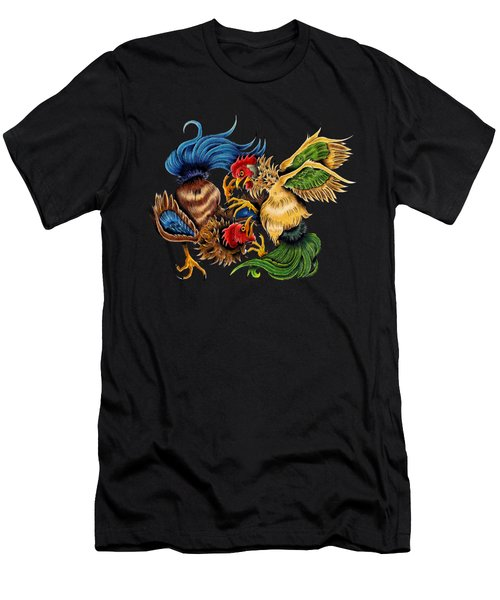 Rawkin' Cawks Men's T-Shirt (Slim Fit) by Vicki Von Doom