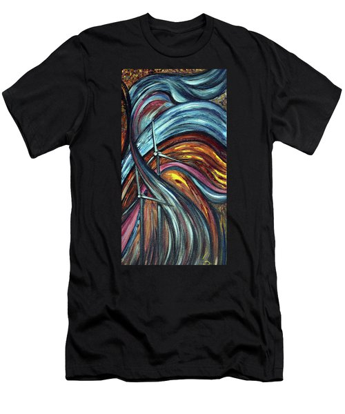 Men's T-Shirt (Slim Fit) featuring the painting Ray Of Hope 2 by Harsh Malik