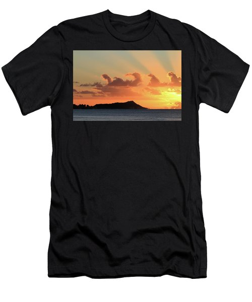 Rays Over Diamond Head Men's T-Shirt (Athletic Fit)